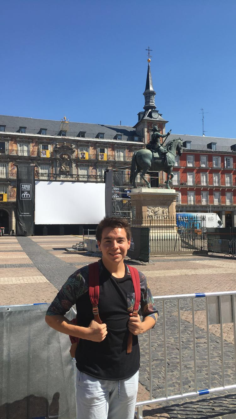 Plaza Mayor and yours truly